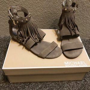 Michael Kors Billy Flat Fringe Sandals